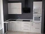 Кухня на заказ Киев МДФ пленочный белая вода 034, фото 2