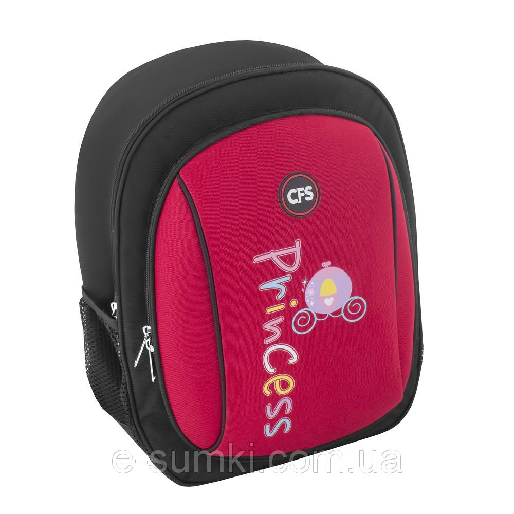 5b764469560e Рюкзак школьный, ортопедический, каркасный для девочки, красно-черный -  e-sumki