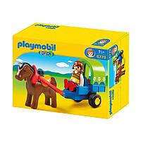 Игровой набор «Повозка с пони» серии «1.2.3» 6779 ТМ: Playmobil