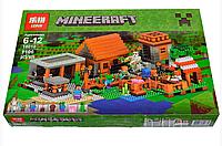 "КонструкторLepin 18010 (Аналог Lego Minecraft 21128) ""Деревня""1106 деталей, фото 1"
