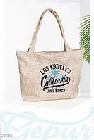 Пляжная плетенная сумка