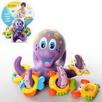 Игра детская для купания HS 6301 (AQ 0001), осьминог-кольцеброс