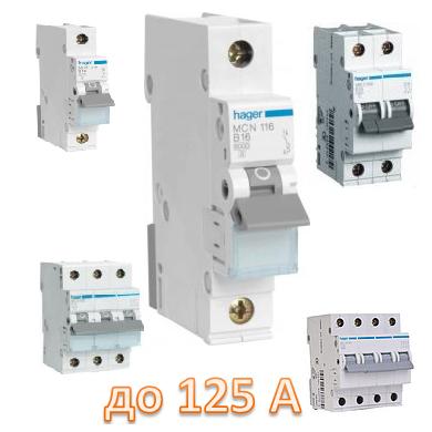 Автоматические выключатели до 125А