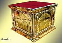 Облачение престола из нитрид титана (булат), литье за стеклом 130 на 130см