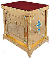 Жертвенник для церкви на литых ножках с литьем иконы