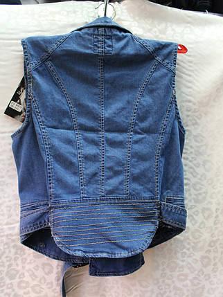Женская джинсовая жилетка, фото 2