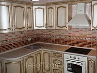 Кухня под заказ Эмилия МДФ пленочный с патиной