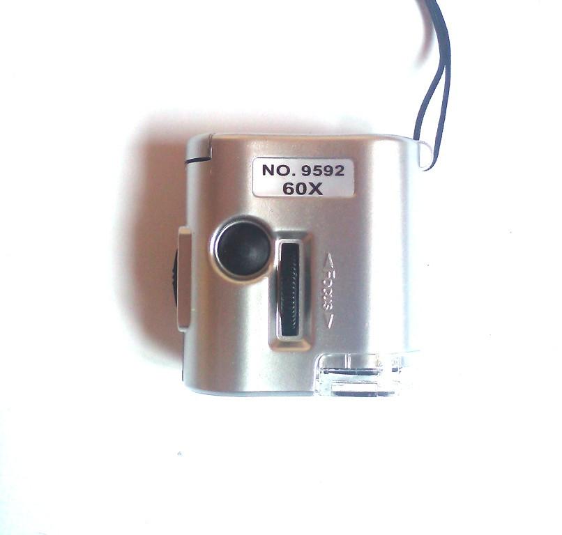 60x мини микроскоп с led освещеннием, +лампа для валюти мікроскоп