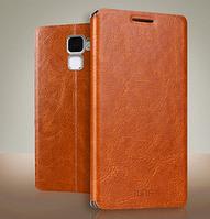 Кожаный чехол книжка MOFI для Huawei Honor 7 коричневый