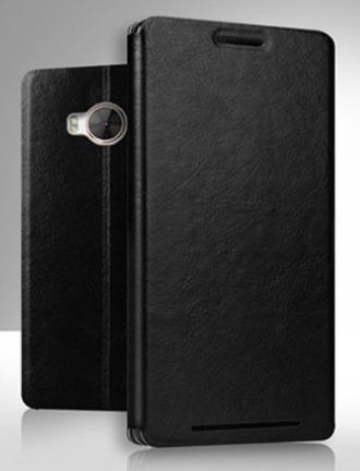 Кожаный чехол книжка MOFI для HTC One ME черный