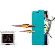 Кожаный чехол книжка MOFI для HTC One ME черный, фото 3