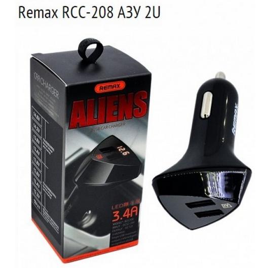 АЗУ Remax RCC-208 ALIENS (2 USB/3.4A) с LCD дисплеем
