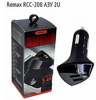 АЗУ Remax RCC-208 ALIENS (2 USB/3.4A) с LCD дисплеем, фото 1