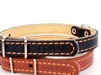 Ошейник COLLAR двойной 14мм/ 27-35см 00126, коричневый