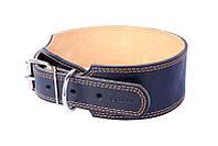 Ошейник для собак COLLAR двойной расширеный 35мм/55-68см 02911, чёрный