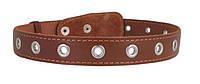 Ошейник COLLAR кожаный безразмерный 35мм/73см 02956, коричневый