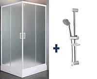 VI`Z квадратная душевая кабина 80~90*185 см(стекла+двери)+Душевая штанга