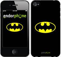 """Чехол на iPhone 4s Бетмен логотип """"3201c-12-4848"""""""