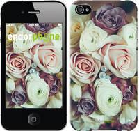 """Чехол на iPhone 4s Букет роз """"2692c-12-4848"""""""