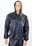 Костюм сауна для похудения (весогонка) Sauna Suit 2052-BK с капюшоном черный