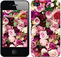 """Чехол на iPhone 4 Розы и пионы """"2875c-15-4848"""""""