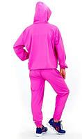 Костюм сауна для похудения (весогонка) Sauna Suit 2052-Р с капюшоном сиреневый