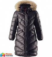 Пуховое пальто для девочки Reima Satu 531302, цвет 9990