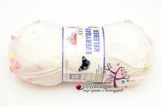 Пряжа Эвридей келебек Everyday kelebek Anti-pilling Himalaya, 79101, белый