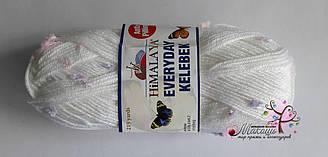 Пряжа Эвридей келебек Everyday kelebek Anti-pilling Himalaya, 79102, белый