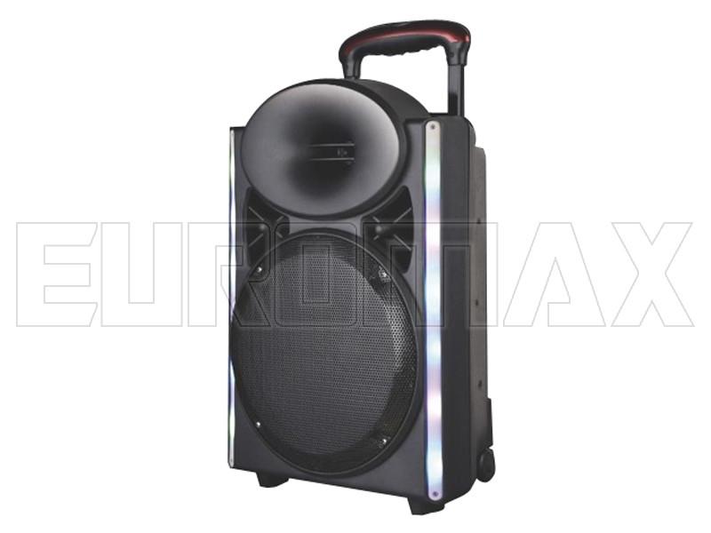 Акустическая переносная колонка EUROMAX 40х59х28см 12 дюймов 30Вт USB/SD/FM/BT/MIC EU-1208