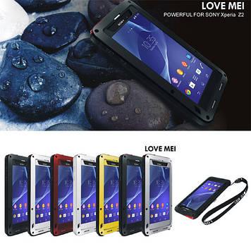 Оригинальный чехол водонепроницаемый противоударный  LOVE MEI для телефона SONY XPERIA Z2 D6502
