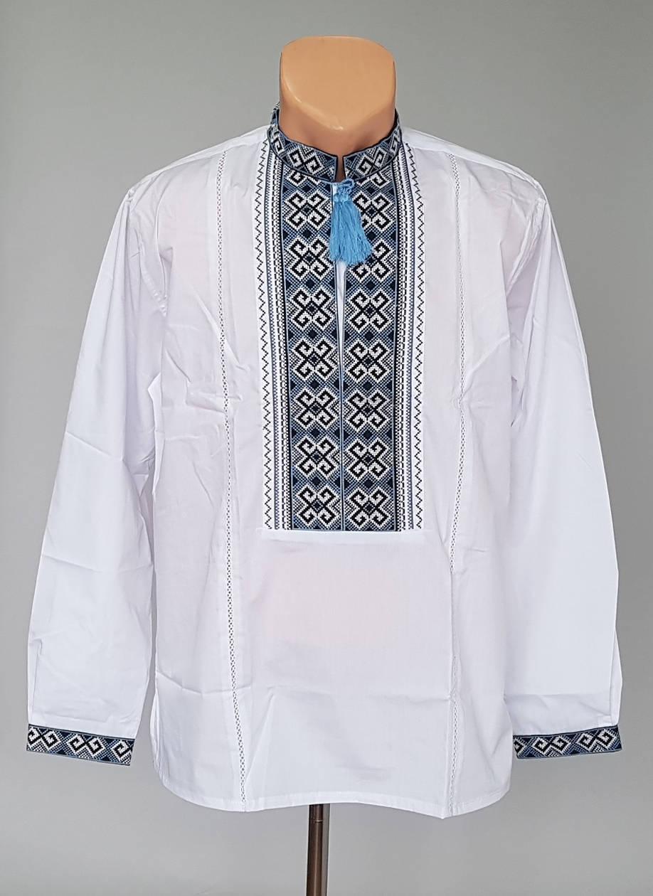 Мужская рубашка-вышиванка с мережкой