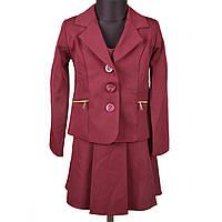 Школьная форма бордо (пиджак+сарафан) Уценка Fashion