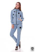 Голубой спортивный костюм женский Vanessa 44