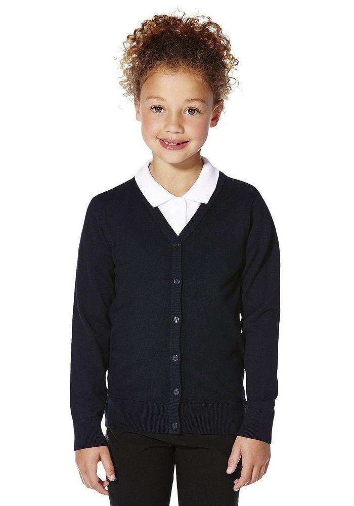 Школьный кардиган темно-синий для девочек 5-6-7-8-9-10 лет Navy F&F (Tesco, Aнглия)