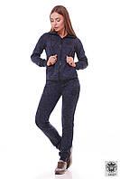 Синий женский спортивный костюм с капюшоном Vanessa