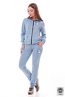 Спортивный женский костюм голубой Vanessa
