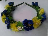 Веночек на голову из цветов, фото 1