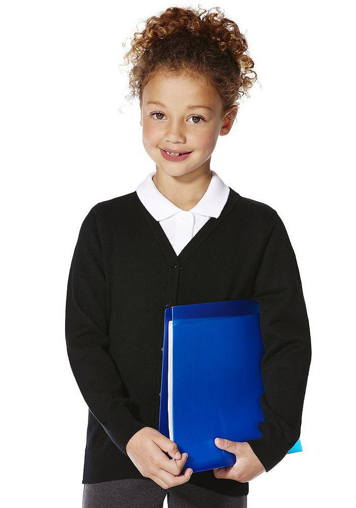 Школьный кардиган чёрный для девочек 6-7-8 лет Black F&F (Tesco, Aнглия)