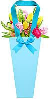 Бумажная сумка для цветов, голубой