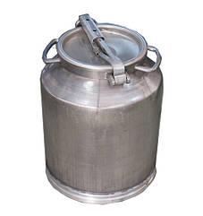 Бидон алюминиевый для молока объемом 18 л Калитва