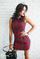 """Женское стильное платье в клетку """"Шотландка"""""""