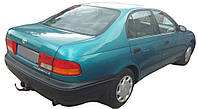 Стекло дверное заднее опускаемое L БУ на Toyota Carina E 1997 г. Код 6810405010. Оригинал