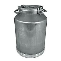Бидон алюминиевый для молока объемом 40 л Калитва