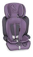 Автокресло MARANELLO PLUS 9-36 KG для детей от 1 года до 12 лет (мягкий вкладыш, ремни безопасности) ТМ Lorelli Фиолет.