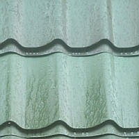 Металлочерепица Szafir 0,45 мм Pruszynski матовый цвет 6020 ,металл Италия