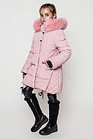 Зимнее модное пальто для девочки.
