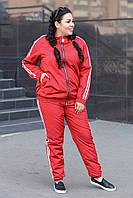 Красный спортивный костюм из плащевки большие размеры