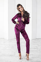Т1118  Велюровый  костюм в расцветках 42,44,46, фото 3