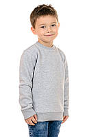 Свитшот Детский на Мальчика Рукав Реглан Серый 70% Хлопок 30% Полиэстер M